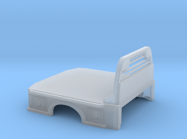 1/64 Flat Truck Bed in Smooth Fine Detail Plastic