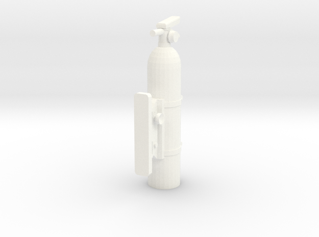 Fire Extinguisher 1/10th with simulated mount 3d printed