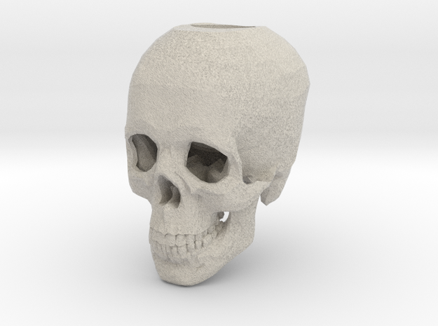 Skull Candle Holder in Sandstone