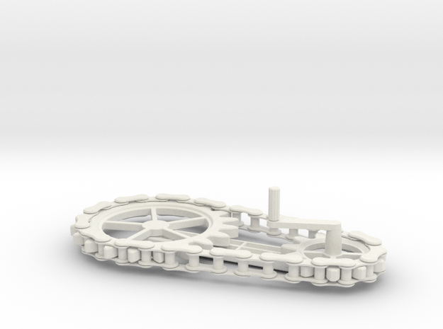 Chain Gear in White Natural Versatile Plastic