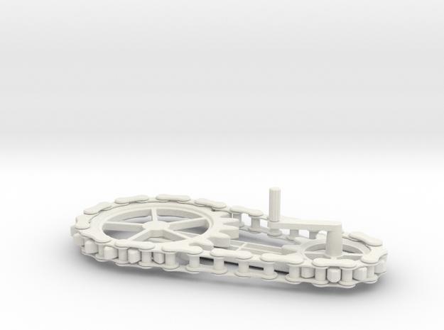 Chain Gear in White Natural Versatile Plastic