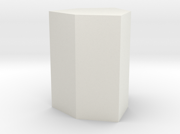 Ditrigonal prism in White Natural Versatile Plastic