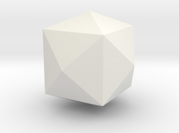 Tetrakis-hexahedron in White Natural Versatile Plastic