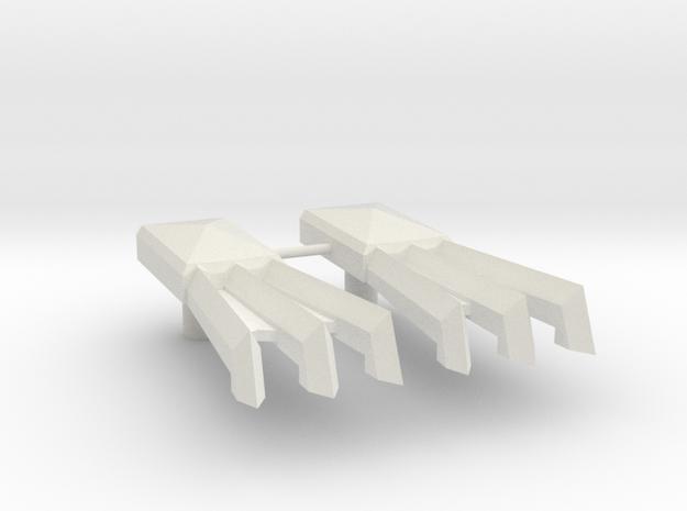 Cybermantium Claws in White Natural Versatile Plastic