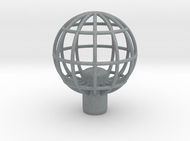 "Shift Knob Globe 12x1.25 2.25"" in Polished Metallic Plastic"
