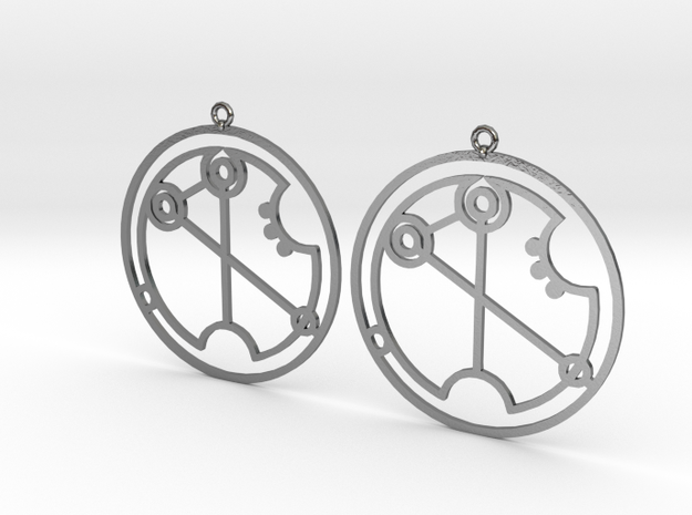 Virginia - Earrings - Series 1 in Polished Silver