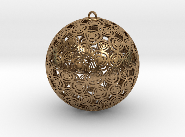 Christmas Ornament 1 in Natural Brass