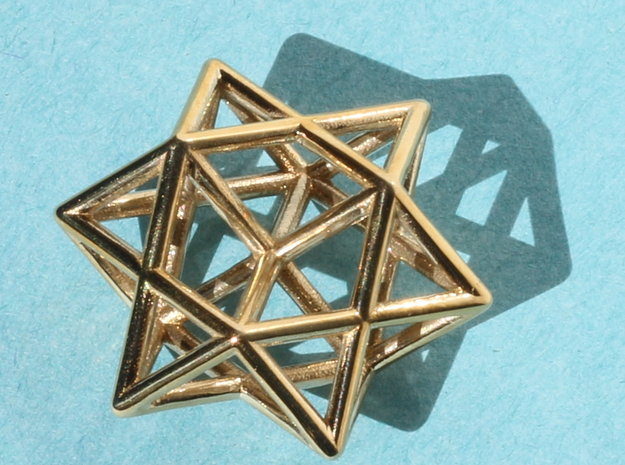 Star Pendant #1 in Polished Brass