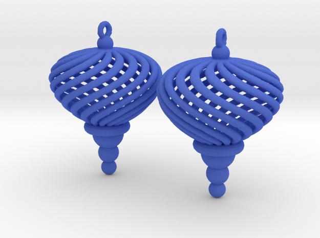 Sphere Swirl Ornaments (pair)