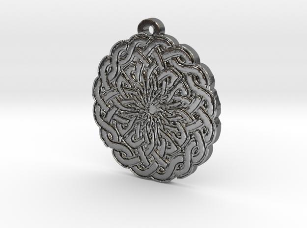 Celtic Knot Circle 2 Medallion Pendant