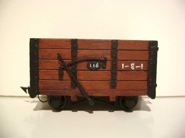 FR Wagon No. 118 5.5mm Scale in Smooth Fine Detail Plastic
