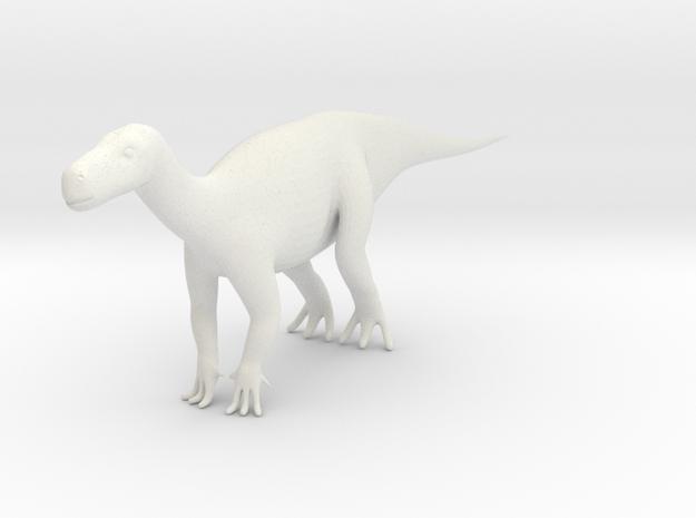 Miniature Dinosaur (2cm Height and 6 cm length)  in White Natural Versatile Plastic