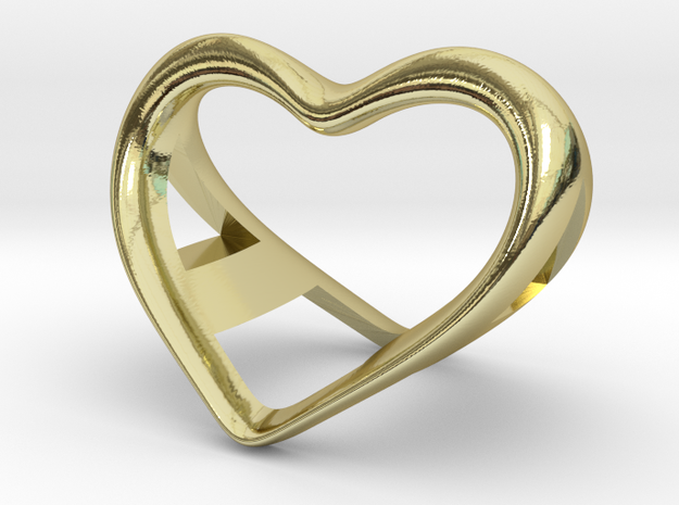 A and a Heart pendant in 18k Gold Plated