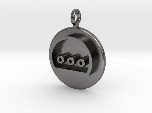 N64 Hers Controller Pendant in Polished Nickel Steel