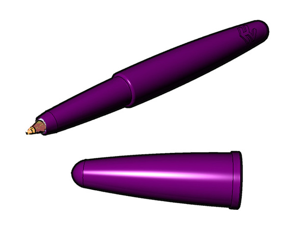 BIC pen casing v1 3d printed