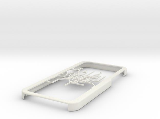 Shanghai Metro map iPhone 6 case in White Natural Versatile Plastic