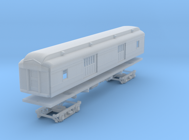 D&H Baggage Car, 478 series (1/160) in Smooth Fine Detail Plastic