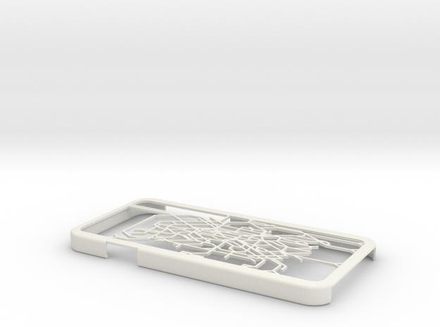 Paris metro map iPhone 6 case in White Natural Versatile Plastic