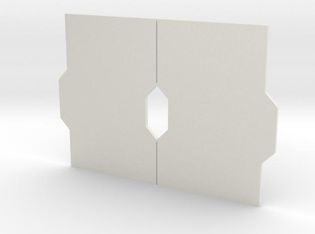 Interior Door Panel Set - Closed in White Natural Versatile Plastic
