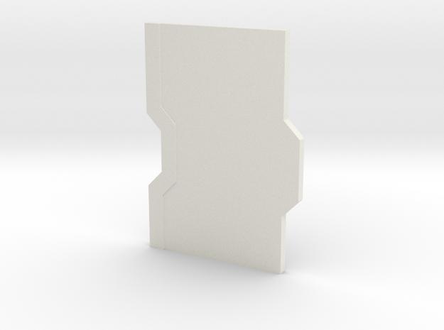 Interior Door Panel Thick - Closed in White Natural Versatile Plastic