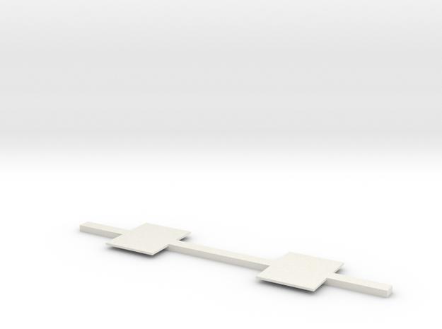 Door Floor Connector in White Natural Versatile Plastic