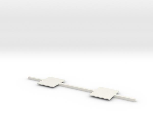 Exterior Corner Floor Bar in White Natural Versatile Plastic