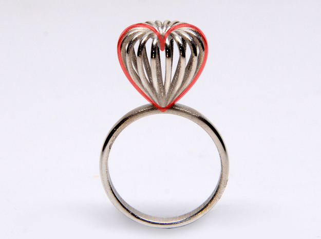 Infinite Love Ring Size 8 in Polished Silver