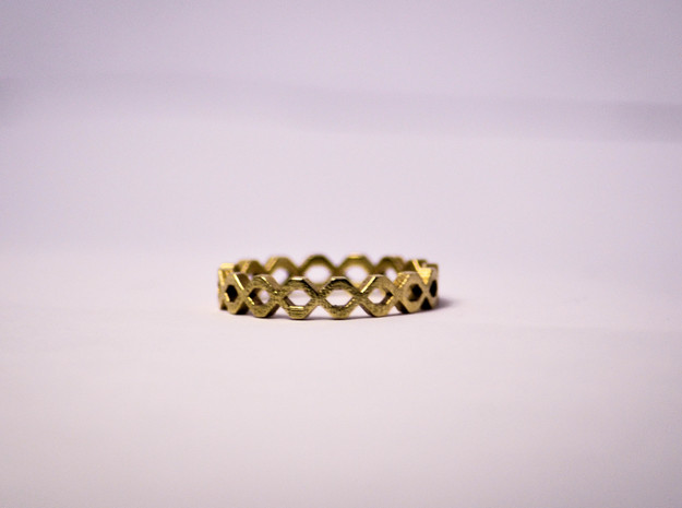 Knot Ring Size 6 in Raw Brass