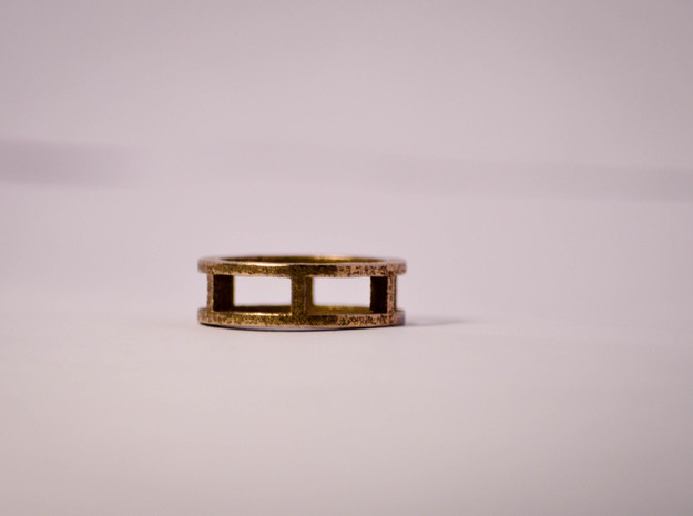 Simple Ring Size 5 in Polished Bronze Steel