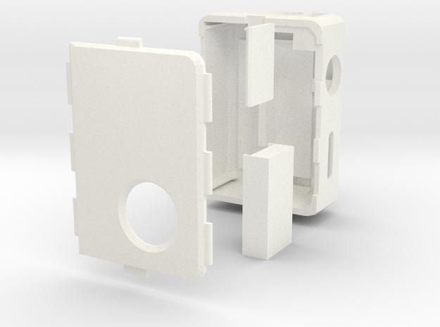 MarkV v3 Box Mod Bottom Feeder in White Strong & Flexible Polished
