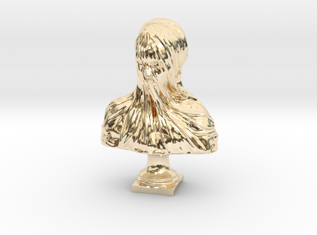 Veiled Head in 14K Yellow Gold