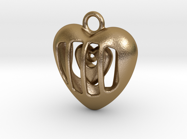 YOUR HEART IN MY HEART in Polished Gold Steel