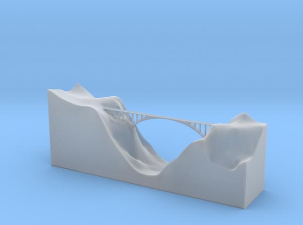 Salginatobel Bridge 1:1000 in Smooth Fine Detail Plastic