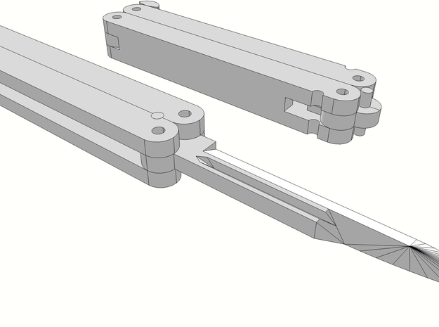 1:6 SCALE butterfly knife X4 3d printed