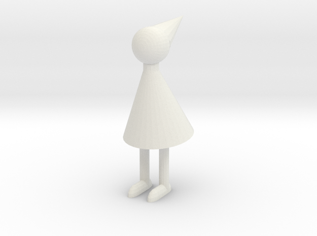 Small Ida in White Natural Versatile Plastic