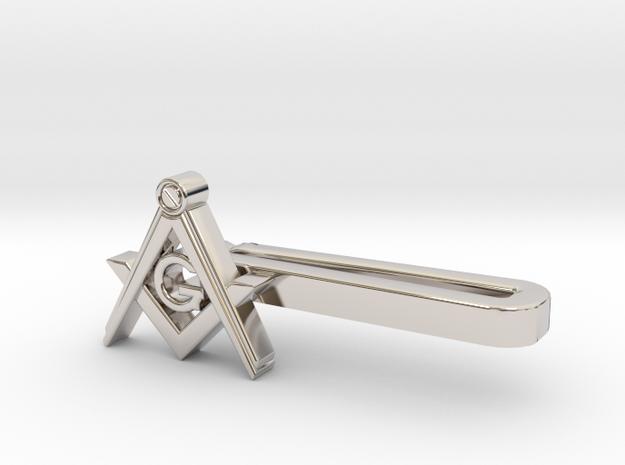 Freemason TP in Rhodium Plated Brass