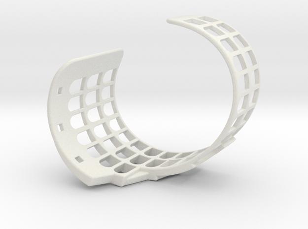 COLOSSEUM BRACELET ORIGINAL (Cut Through) Medium in White Natural Versatile Plastic
