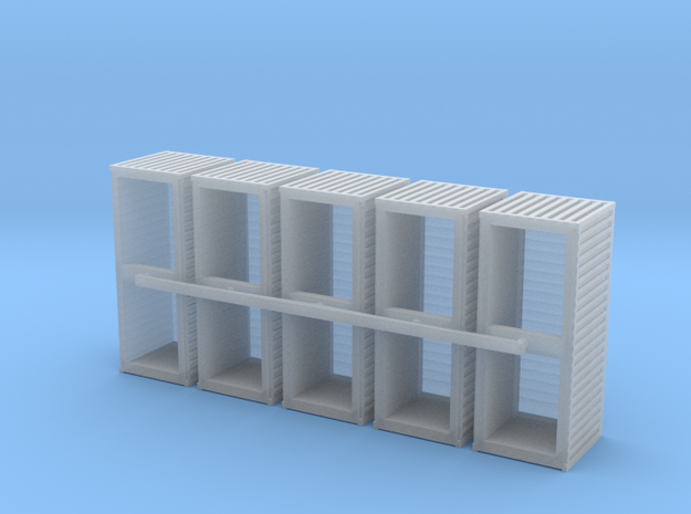 Container 20ft Set of 5 1/285 6mm  3d printed