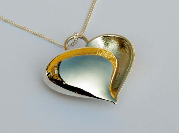 Shy Love (from $12.50) in Polished Silver: Small