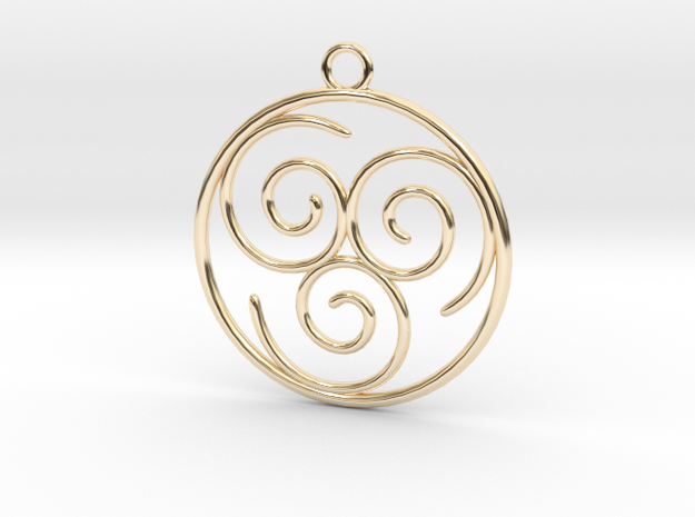 Avatar the Last Airbender: Air in 14k Gold Plated