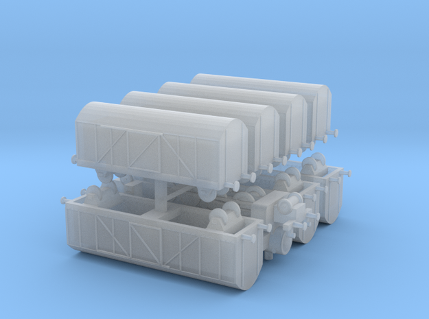 Mixed Freight Train Set 2 1/285 6mm 3d printed