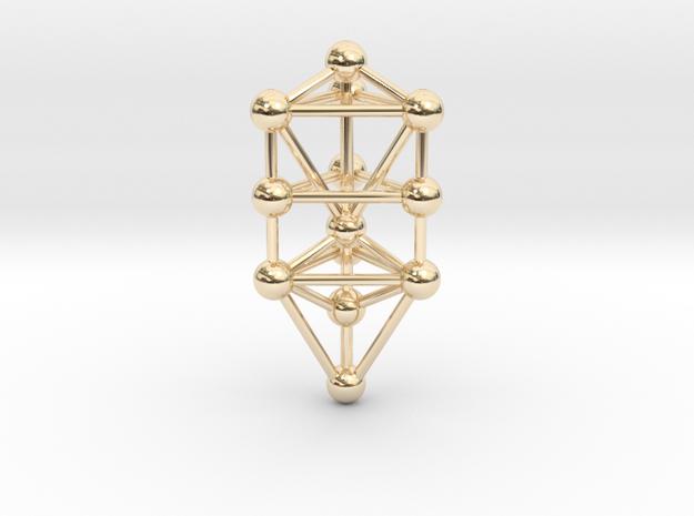 Small Triangular Tree of Life Pendant (no bail)