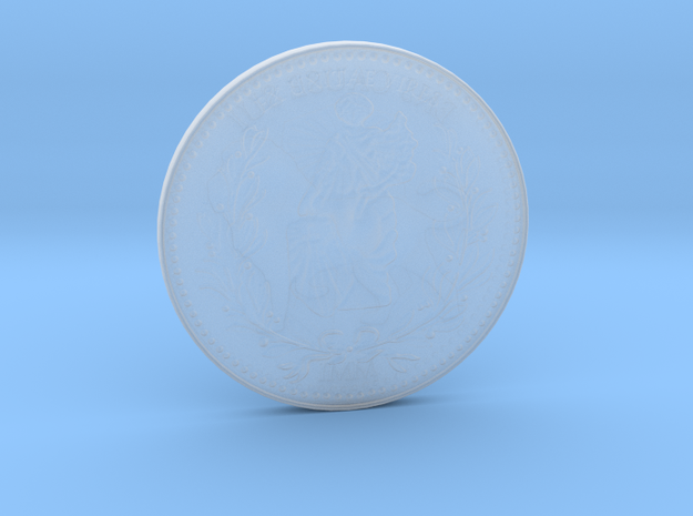 John Wick Gold Coin in Smooth Fine Detail Plastic