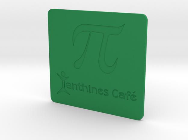 Xanthines PI Mug Mat in Green Processed Versatile Plastic