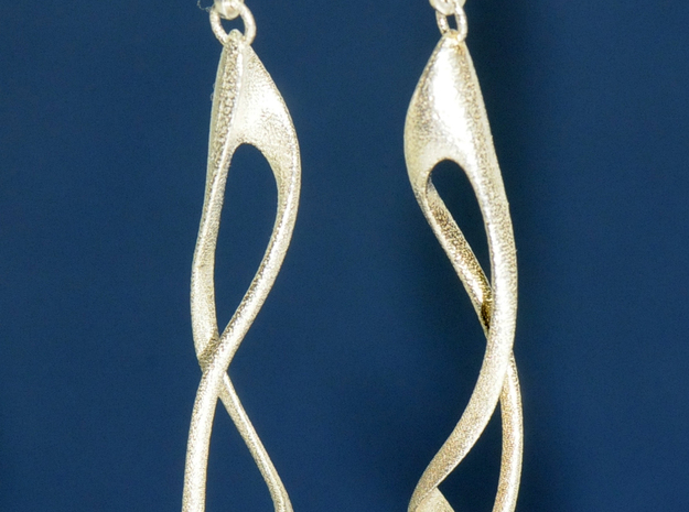 loop and multiple twisted straight version in Natural Silver