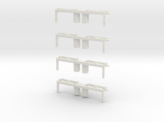 Drehgestellblenden für MÜBAG Vierachser in White Natural Versatile Plastic