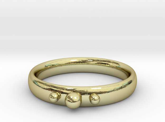 Ring with beads in 18k Gold Plated