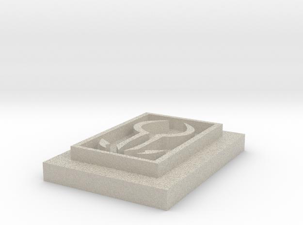 "Kressh Sigil With Border 3/4"" 3d printed"