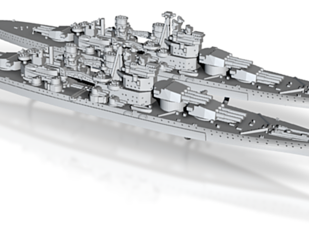 1/2400 UK Lion class battleship (1939) x2 3d printed