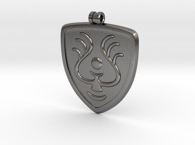 Laputian Seal Pendant in Polished Nickel Steel